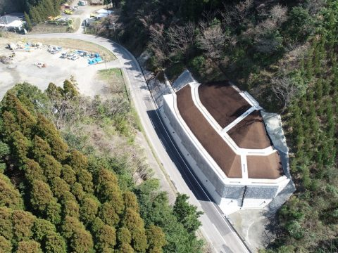 第164号合子ヶ谷尾脇線道路災害復旧工事